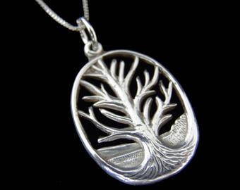 Tree Of Life Necklace - Sterling Silver Tree Of Life Necklace