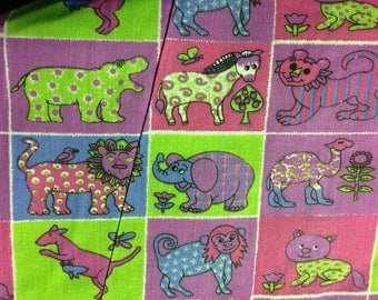 Zoo Print--Pastels 100% Cotton Fabric