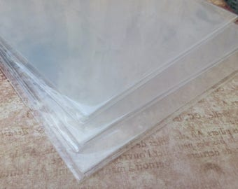 free UK shipping Pack of 3 Clear Shrink Plastic Sheets A4 Size