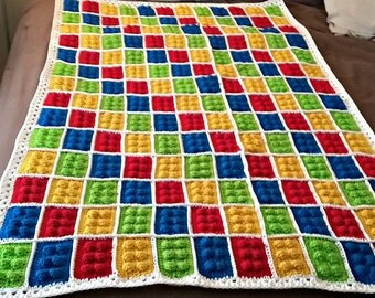 Crochet Lego Blanket - Digital Download - Crochet Blanket LEGO - LEGO Theme Crochet Blanket - Digital Pattern, Building Blocks, Lego Blanket