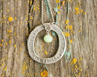She Believed She Could, So She Did Necklace/ Inspirational Jewelry/ Eco Friendly Sterling Silver Pendant/ Gift for Her/ Graduation Gift