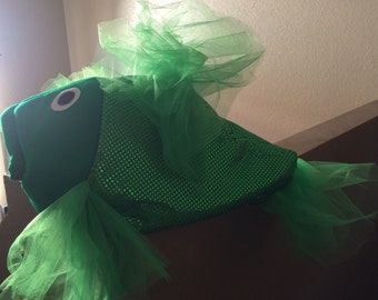 Green beta fish costume