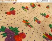 ON SALE Vintage Fruit Fabric-Vintage Food Fabric-Extra Wide Vintage Fabric-Vintage Kitchen Fabric