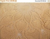ON SALE Vintage Pineapple Doily, Beautiful Hand Crocheted  Lace Table Doily, Delicate Tiny Stitches, Vintage Antique Table Dressing, Display