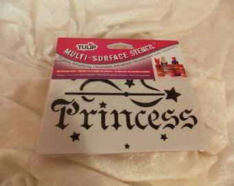 Multi-Surface Princess Stencil Re-Usable Self-Adhering Tulip Stencils