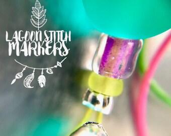 Knitting Stitch Markers  snag free- LAGOON
