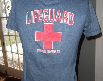 Blue T-Shirt w/Lifeguard Logo - Size S
