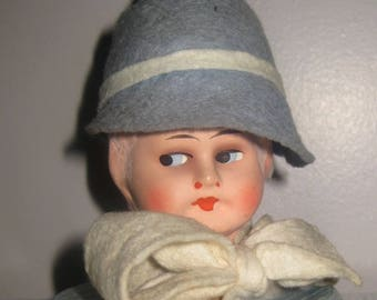 1920's Flapper Doll Head Hat Stand