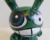 Reserved Custom Kidrobot Dunny BUDDY DUNNY 420 Vinyl Art Toy OOAK Cannabis Ready to ship by Kelly Green