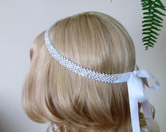 Rhinestone Bridal Headband,Bridal Accessories,Wedding Accessories,Crystal Wedding Hairband,Bridal Headpiece,#H2