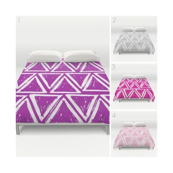 Purple Duvet Cover - Grey duvet cover - Magenta duvet cover - queen duvet cover - twin duvet - full duvet cover - Pink king duvet Twin XL
