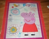 Peppa Pig Panel Cheater Quilt Wall Hanging Nap Mat Play Mat Party Decor Nursery Playroom British Animated Story Preschool Party Decoration