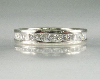 Diamond Eternity Band – Princess Cut Diamonds - Appraisal Included USD 3200.00 – 1.16 Carats Diamond Total Weight