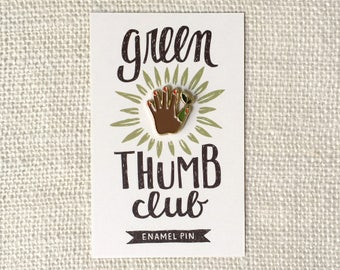 Enamel Pin - Green Thumb (Dark)