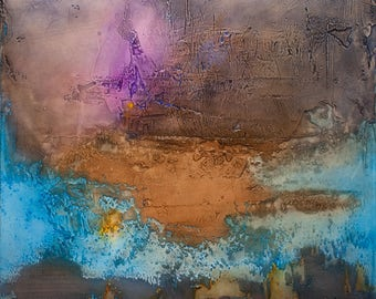 """Abstract Acrylic Painting - """"Distant Suns"""""""
