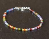 Multiple zirconia beads bracelet.Multistones,multicolor,Colorfull bracelet
