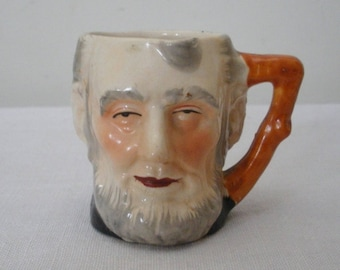 Vintage Japan Toby Pitcher Mug - Abe Lincoln