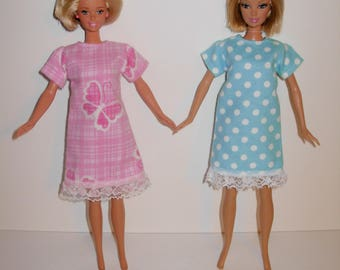barbie clothes. 2 Cute nightgowns for barbie doll