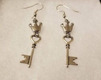 Kingdom Hearts Inspired Silver Earrings