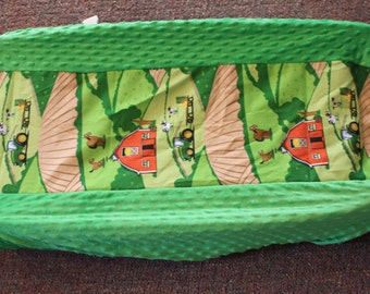 Down on the farm changing pad cover