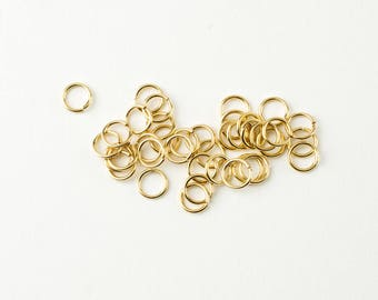 25pcs 14K Gold Filled 6mm Open Jump Rings 20 Gauge, Made in USA