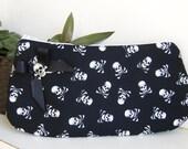 Skulls  purse, make up bag , crafts  , handmade,Claudia Candeias, ready to ship
