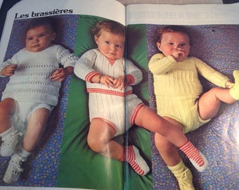 Phildar vintage Baby Knitting book , Stunning vintage Baby Knitting Patterns