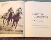 Another Man O'War by C.W. Anderson 1966 edition, hardback, horse lover book, horse owner gift, horse racing, girls and horses, horse stories