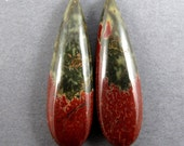 Quality Cherry Creek Jasper Cabochon Matched Pair