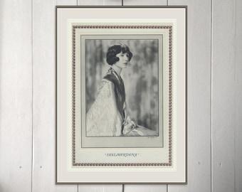 Shelmerdene, Art Deco, Monochrome Portrait in Photogravure, 1926/9, Vintage Art Deco, Vintage Sepia Print, 1920s Flapper
