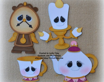 Beauty and the Beast Accessories Disney  Premade Scrapbooking Embellishment Paper Piecing