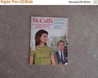 SALE SALE SALE Vintage McCalls Magazine Jacqueline Kennedy Secret Mission Cambodia Lord Harlech Mexico June 1968 Fashion Coco Chanel Sunburn