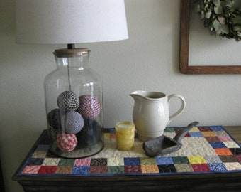 Scrappy Squares Table Runner