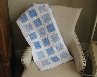 Blue and White Baby Quilt