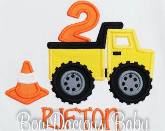 Boy's Dump Truck Birthday Shirt or Bodysuit, Dump Truck First Birthday Shirt or Bodysuit, Construction 2nd Birthday Shirt, Dump Everything