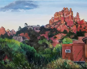 Sedona Red Rocks - 16x12in Original Oil Painting