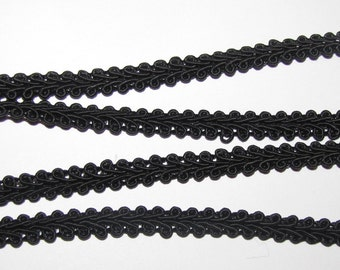 1/4 inch French Gimp Trim favors decor SEWING craft ribbon bolt yards scrapbook Black