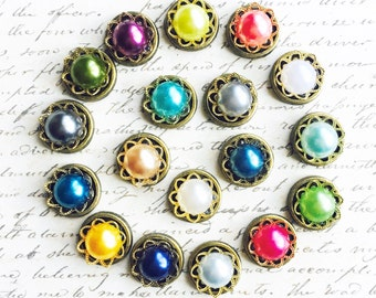 Push Pins - Deluxe Pearl Set - Decorative Push Pins - Office Supplies - Office Decor - Office Organization - Colorful Push Pins - Pearl