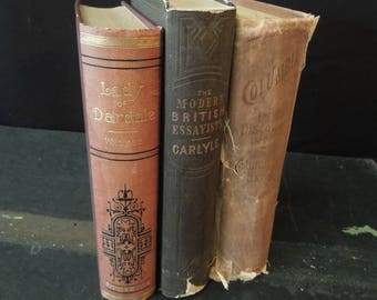 Rustic Old Book Stack - Antique Books for Decor - Colombian Exposition Book -  HGTV Bookshelf Decor