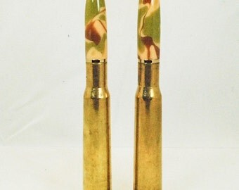 Military Bullet Ballpoint Twist Pen, Handmade, Military, 50 caliber brass bullet casing, By ASHWoodshops, for the veteran or gun enthusiast