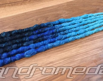"6SE Crocheted Dreadlock Extensions -- ""Rainfall"" -- Free Shipping!"