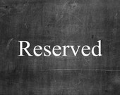 Reserved for Jaime Lisk