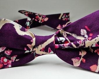 Purple Bow Ties Purple Bowties Custom Bow Ties Mens Bow Ties Purple Floral Bow Ties