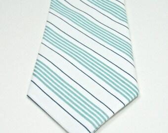 Mint Necktie Wedding Mint and Navy Stripe Neckties Mint Neckties Mint Tie Mens Neckties Custom Neckties Mens Neckties