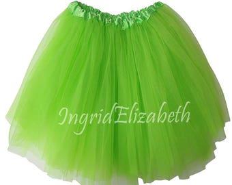 Lime Teen Adult 4 Layer Tutu ... Adult Tutu Costume Color Run Tutu Bachelorette Party