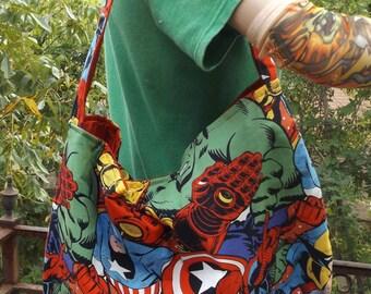 Marvel Comic  Slouch /  Hobo Style Bag