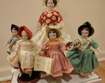 Vintage Little Women China Dolls by Ruth Gibbs