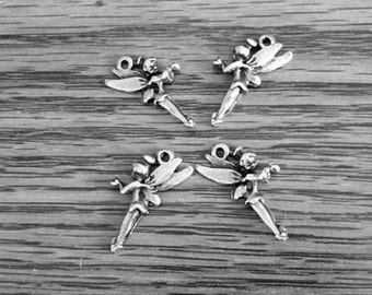 Tinkerbell antique silver charms  - SALE