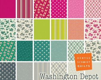PREORDER: Washington Depot - Fat Quarter Bundle by Denyse Schmidt - Full Collection - 23 prints