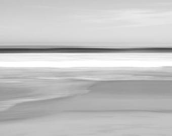 Abstract fine art photography, Black and white photography, limited edition print, seascape, long-exposure, minimalist, Wavelet
